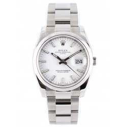 Rolex Date White/index Oyster 115200