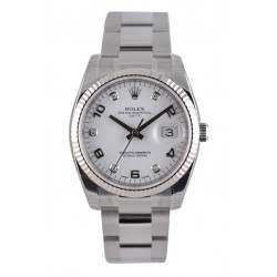 Rolex Date White Arab 5 diamond Oyster 115234