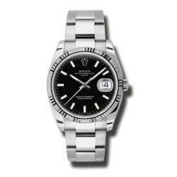 Rolex Date Black/index Oyster 115234