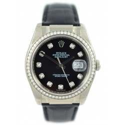 Rolex Date-Just with diamond bezel- 116189 (BD)