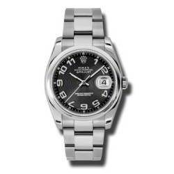 Rolex Datejust Black Arab Concentric Oyster 116200