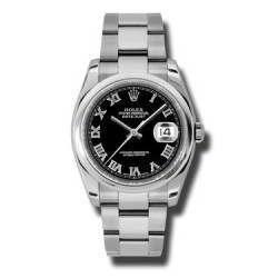Rolex Datejust Black Roman Oyster 116200