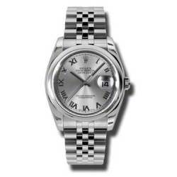 Rolex Datejust Rhodium Roman Jubilee 116200