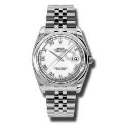 Rolex Datejust White Roman Jubilee 116200