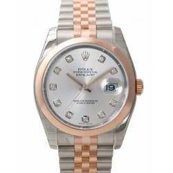 Rolex Datejust Silver/Diamond Jubilee 116201