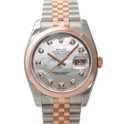 Rolex Datejust White mop/Diamond Jubilee 116201