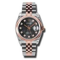 Rolex Datejust Black Jub/Diamond Jubilee 116201