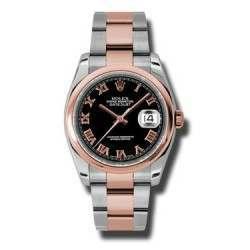 Rolex Datejust Black Roman Oyster 116201