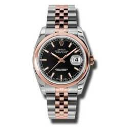 Rolex Datejust Black/index Jubilee 116201