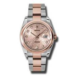 Rolex Datejust Pink Jub Diamond Oyster 116201