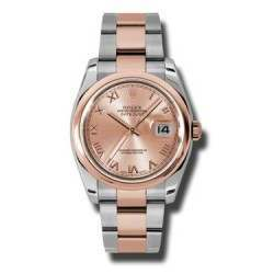 Rolex Datejust Pink Roman Oyster 116201