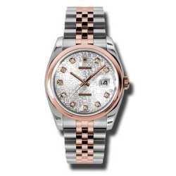 Rolex Datejust Silver Jub/Diamond Jubilee 116201