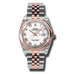 Rolex Datejust White Roman Jubilee 116201