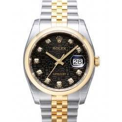Rolex Datejust Black Jub/Diamond Jubilee 116203