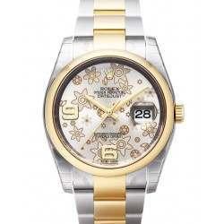 Rolex Datejust Silver Arab Oyster 116203