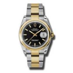 Rolex Datejust Black/index Oyster 116203