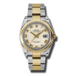 Rolex Datejust Ivory Roman Pyr Oyster 116203