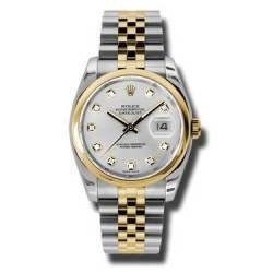 Rolex Datejust Silver/Diamond Jubilee 116203