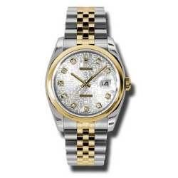 Rolex Datejust Silver Jub/Diamond Jubilee 116203