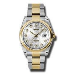 Rolex Datejust Silver Jub/Diamond Oyster 116203