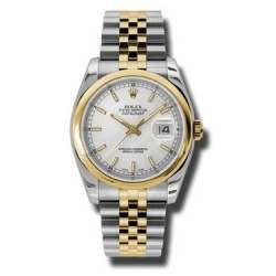 Rolex Datejust Silver/index Jubilee 116203