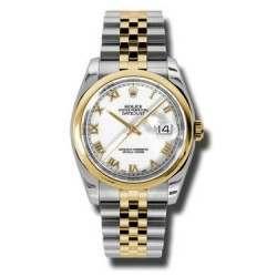 Rolex Datejust White Roman Jubilee 116203