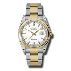 Rolex Datejust White/index Oyster 116203