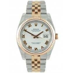 As New Rolex Datejust White Roman Dial Jubilee Bracelet 116231