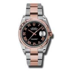Rolex Datejust Black Roman Oyster 116231