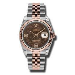 Rolex Datejust Chocolate/Diamond Jubilee 116231
