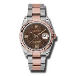 Rolex Datejust Chocolate/Diamond Oyster 116231