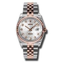Rolex Datejust Silver Jub/Diamond Jubilee 116231