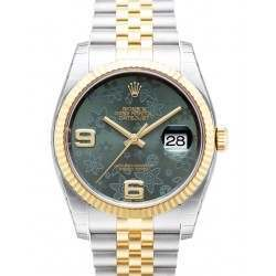 Rolex Datejust Green Arab Jubilee 116233