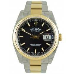 Rolex Datejust Black/index Oyster 116233