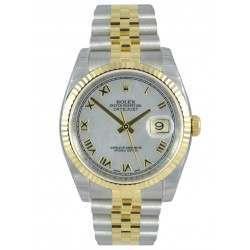 Rolex Datejust White mop Roman Jubilee 116233