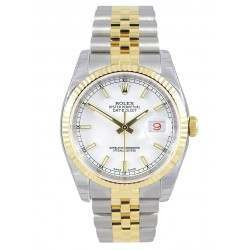 Rolex Datejust White/index Jubilee 116233