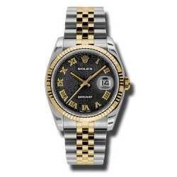Rolex Datejust Black Jub Roman Jubilee 116233