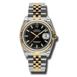 Rolex Datejust Black/index Jubilee 116233