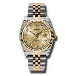 Rolex Datejust Champagne Jub/Diamond Jubilee 116233