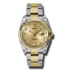 Rolex Datejust Champagne Jub/Diamond Oyster 116233