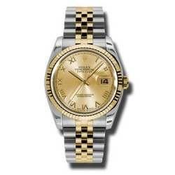 Rolex Datejust Champagne Roman Jubilee 116233