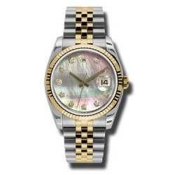 Rolex Datejust Black mop/Diamond Jubilee 116233
