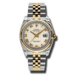 Rolex Datejust Ivory Roman Pyr Jubilee 116233