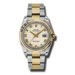 Rolex Datejust Ivory Roman Pyr Oyster 116233