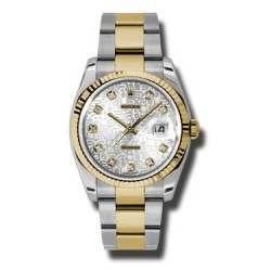 Rolex Datejust Silver Jub/Diamond Oyster 116233