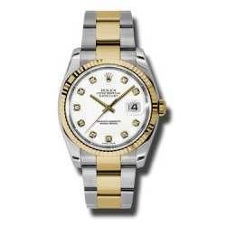 Rolex Datejust White/Diamond Oyster 116233