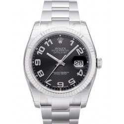 Rolex Datejust Black Arab Concentric Oyster 116234