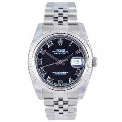 Rolex Datejust Black Roman Jubilee 116234