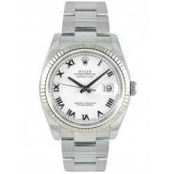 Rolex Datejust White Roman Oyster 116234