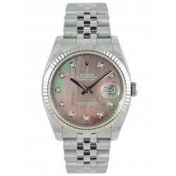 Rolex Datejust Black mop/Diamond Jubilee 116234